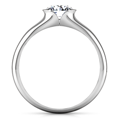 Solitaire Engagement Ring Ansley 14K White Gold