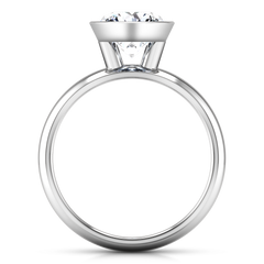 Solitaire Engagement Ring Contempo 14K White Gold