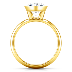 Solitaire Engagement Ring Contempo 14K Yellow Gold