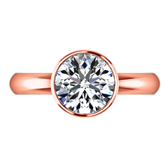 Solitaire Engagement Ring Contempo 14K Rose Gold