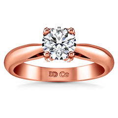 Solitaire Engagement Ring Caressa 14K Rose Gold