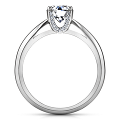 Solitaire Engagement Ring Caressa 14K White Gold