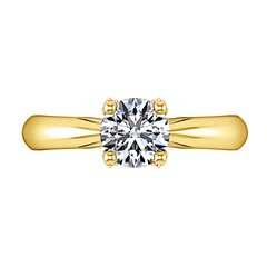Solitaire Engagement Ring Caressa 14K Yellow Gold