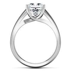 Solitaire Princess Cut Engagement Ring Leyla 14K White Gold
