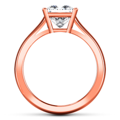 Solitaire Princess Cut Engagement Ring Angie 14K Rose Gold