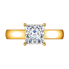Solitaire Princess Cut Engagement Ring Angie 14K Yellow Gold