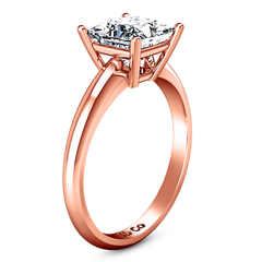 Solitaire Princess Cut Engagement Ring Cindy 14K Rose Gold