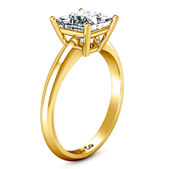 Solitaire Princess Cut Engagement Ring Cindy 14K Yellow Gold