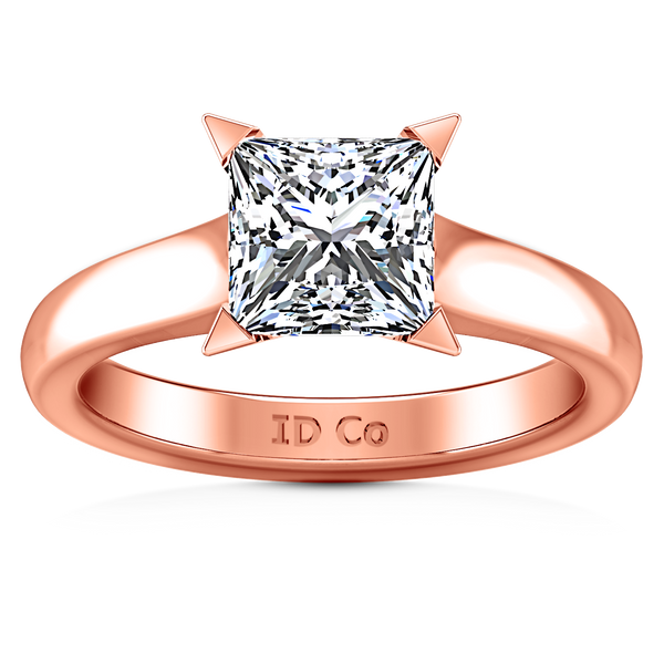 Solitaire Engagement Ring Jenny 14K Rose Gold