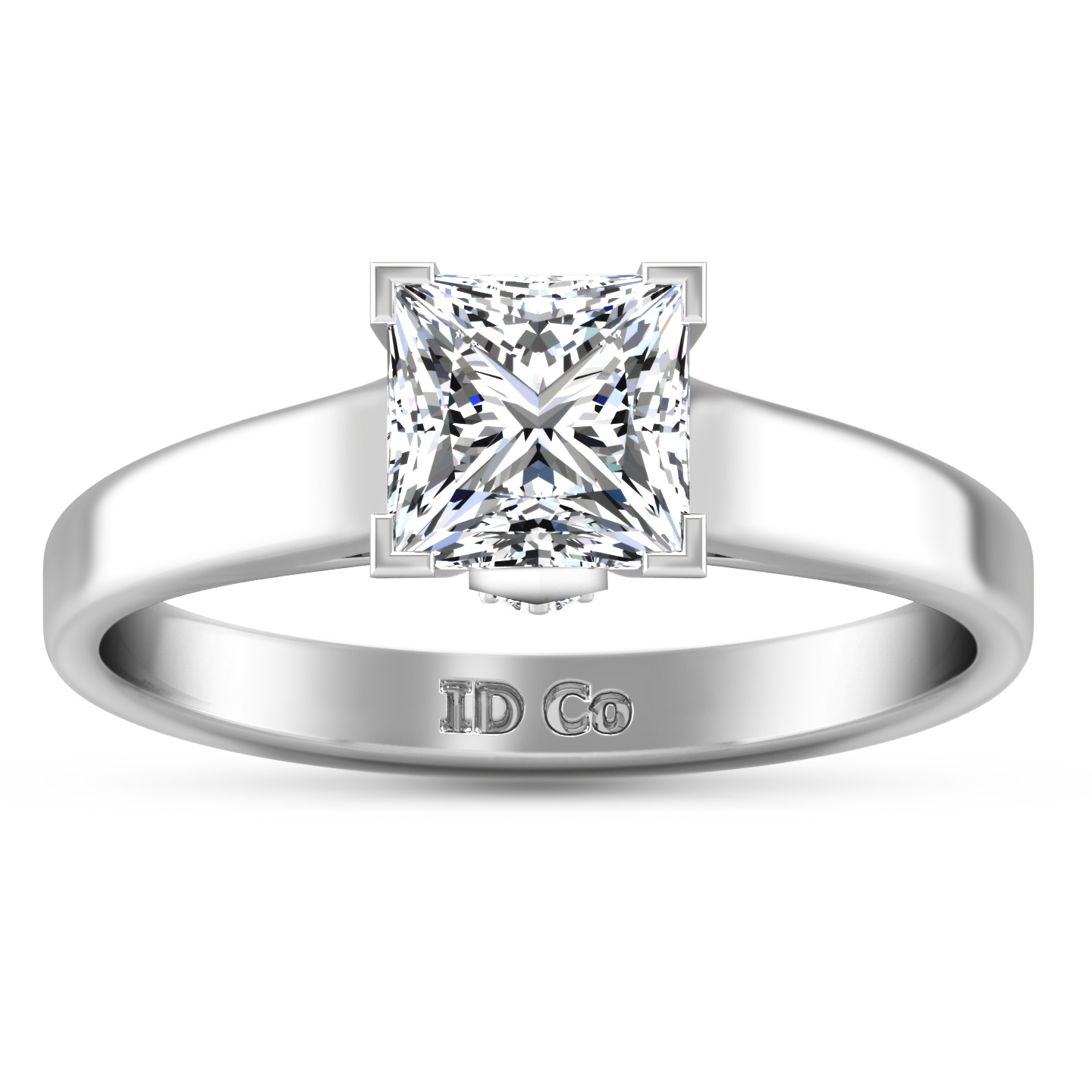ben product cushion jewellers fire canadian ring solitaire cut moss diamond glacier engagement rings