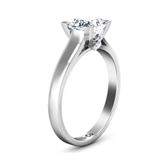 Solitaire Princess Cut Engagement Ring Holly 14K White Gold