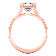 Solitaire Princess Cut Engagement Ring Bella 14K Rose Gold
