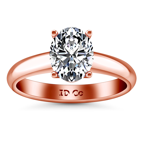 Solitaire Engagement Ring Daniela 14K Rose Gold