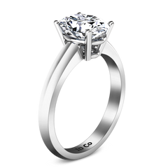 Solitaire Engagement Ring Daniela 14K White Gold