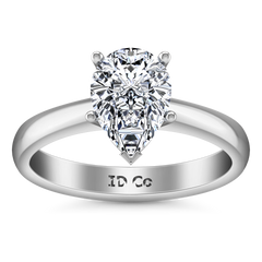 Solitaire Engagement Ring Hillary 14K White Gold