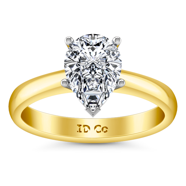 Solitaire Engagement Ring Hillary 14K Yellow Gold