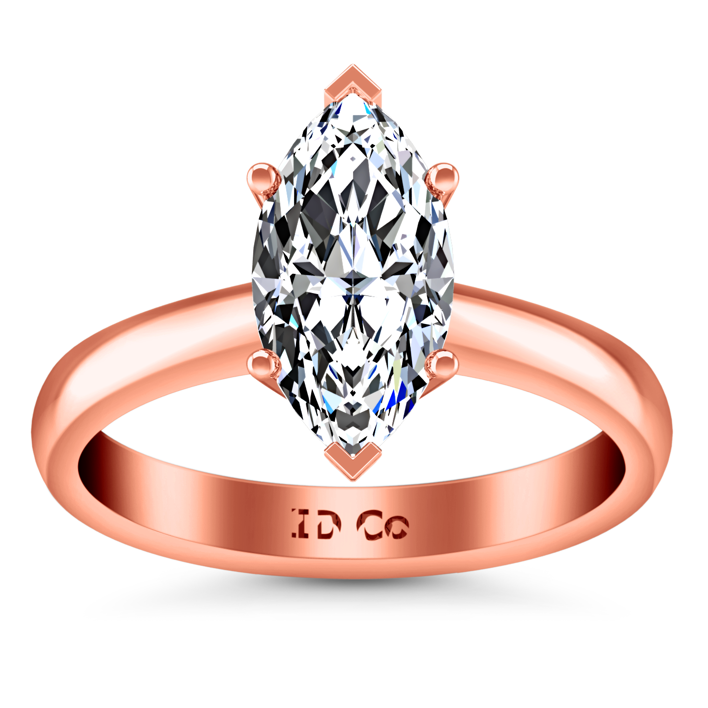 1600aadad Solitaire Engagement Ring Scarlet 14K Rose Gold – Imagine Diamonds