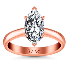 Solitaire Engagement Ring Scarlet 14K Rose Gold