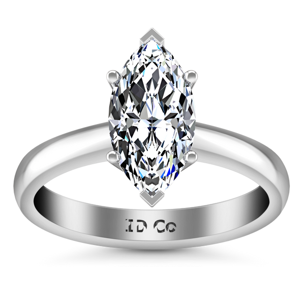 Solitaire Engagement Ring Scarlet 14K White Gold