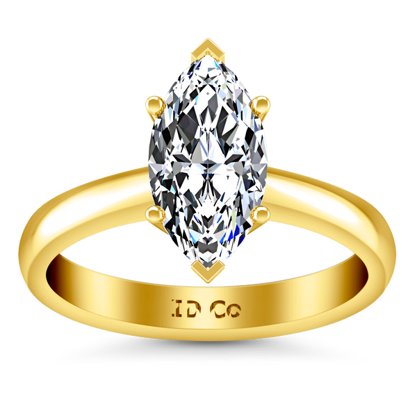 Solitaire Engagement Ring Scarlet 14K Yellow Gold