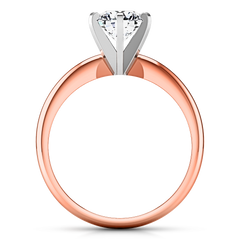 Solitaire Engagement Ring Classic 6 Prong 14K Rose Gold