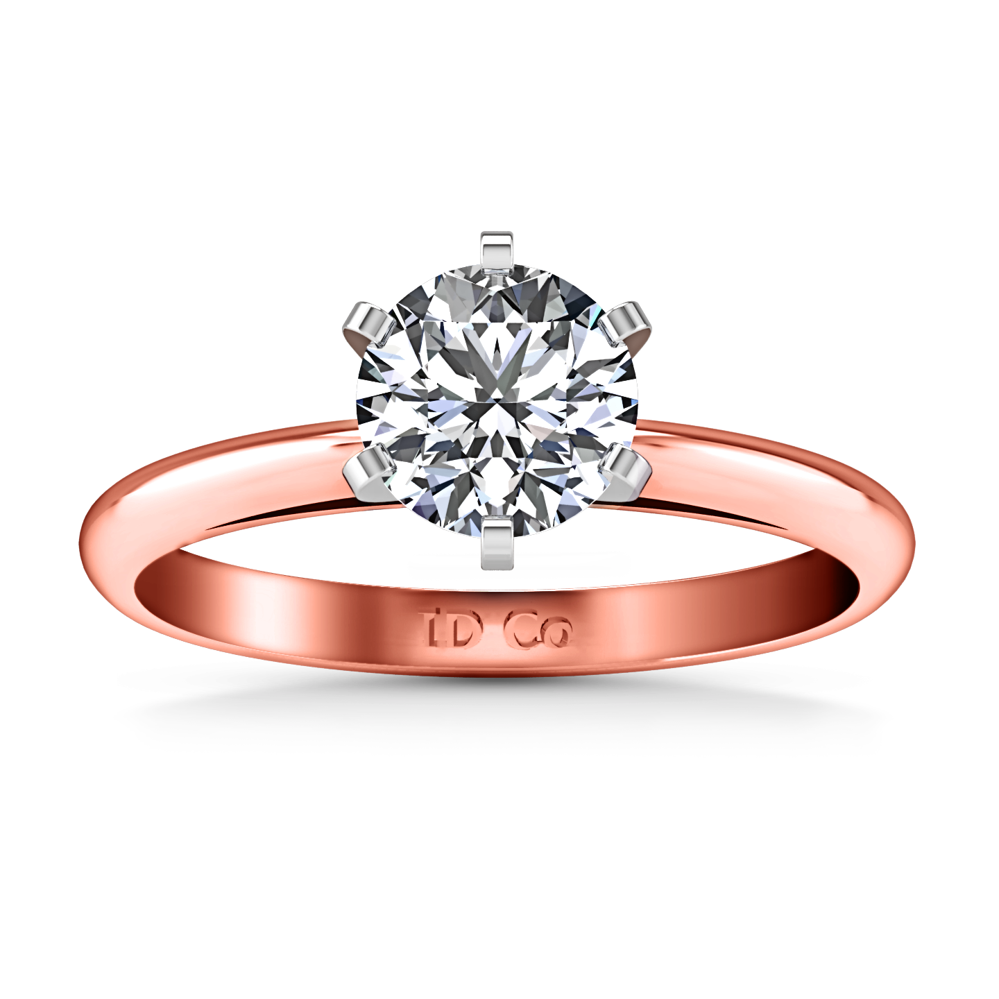 cathedral rings gold rose ellip imagine r ring engagement prong products solitaire