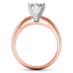 Solitaire Engagement Ring Cathedral 6 Prong 14K Rose Gold