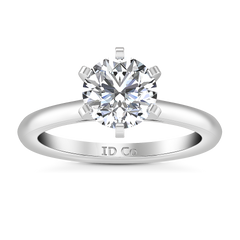 Solitaire Engagement Ring Petite Cathedral 14K White Gold