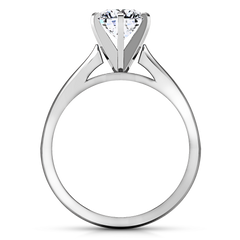 Solitaire Engagement Ring Tapered And Arched 14K White Gold