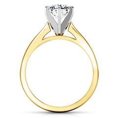 Solitaire Engagement Ring Tapered And Arched 14K Yellow Gold