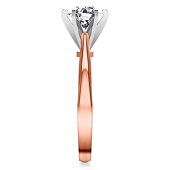 Solitaire Engagement Ring Tapered And Arched 14K Rose Gold