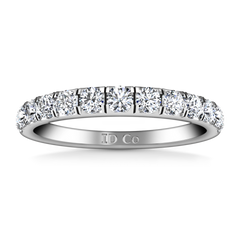 Diamond Wedding Band Janice 0.81 Cts 14K White Gold