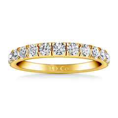 Diamond Wedding Band Janice 0.81 Cts 14K Yellow Gold