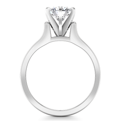 Solitaire Engagement Ring Modern 14K White Gold