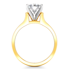 Solitaire Engagement Ring Modern 14K Yellow Gold