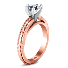 Solitaire Engagement Ring Janet 14K Rose Gold