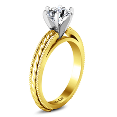 Solitaire Engagement Ring Janet 14K Yellow Gold