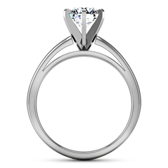Solitaire Engagement Ring 6 Prong Contemporary 14K White Gold