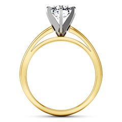 Solitaire Engagement Ring 6 Prong Contemporary 14K Yellow Gold