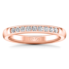 Diamond Wedding Band Sydney 0.18 Cts 14K Rose Gold