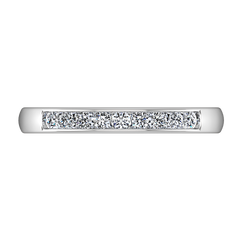 Diamond Wedding Band Sydney 0.18 Cts 14K White Gold