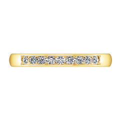 Diamond Wedding Band Sydney 0.18 Cts 14K Yellow Gold