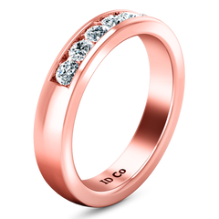 Diamond Wedding Band Hudson  0.35 Cts 14K Rose Gold