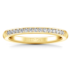 Diamond Wedding Band Erin  0.22 Cts 14K Yellow Gold