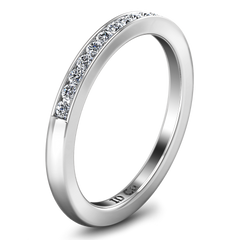 Diamond Wedding Band Erin  0.22 Cts 14K White Gold