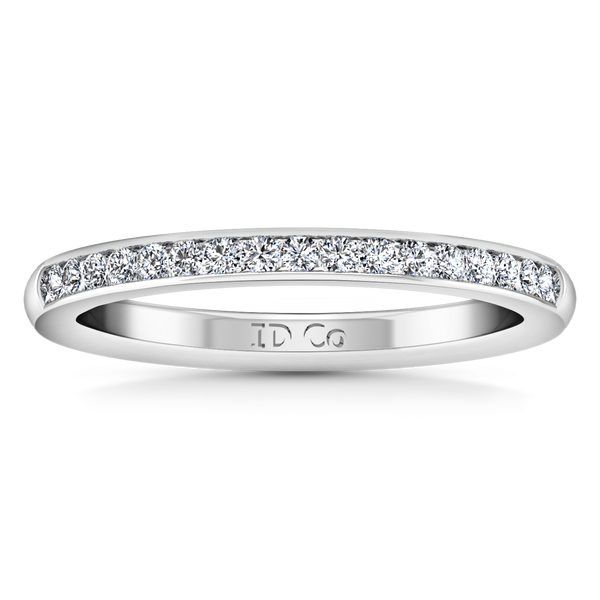Diamond Wedding Band Devon 0.51 Cts 14K White Gold