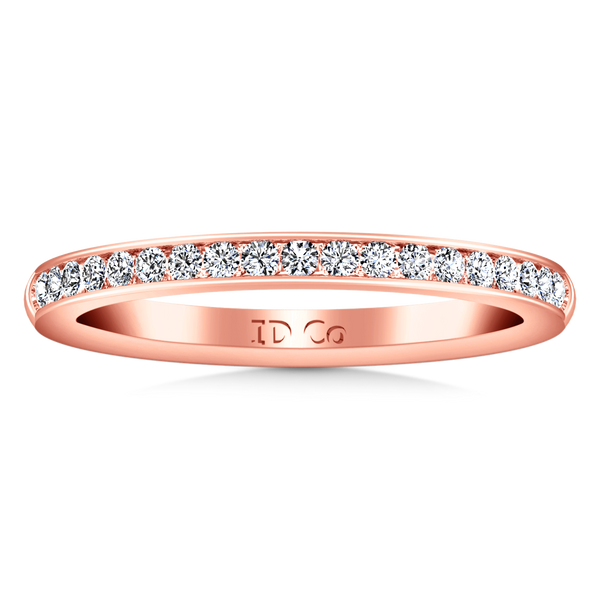 Diamond Wedding Band Alina 0.29 Cts 14K Rose Gold
