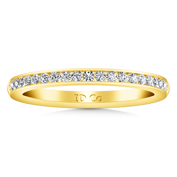 Diamond Wedding Band Alina 0.29 Cts 14K Yellow Gold