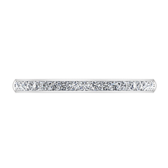 Diamond Wedding Band Alina 0.29 Cts 14K White Gold