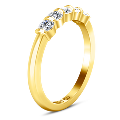 Diamond Wedding Band Oliva 0.3 Cts 14K Yellow Gold